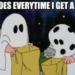 Charlie Brown Halloween Rock | WHY DOES EVERYTIME I GET A ROCK? | image tagged in charlie brown halloween rock,halloween,peanuts,charlie brown,memes | made w/ Imgflip meme maker