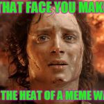 The memers struggle. LOL | THAT FACE YOU MAKE IN THE HEAT OF A MEME WAR. | image tagged in memes,its finally over,nixieknox | made w/ Imgflip meme maker