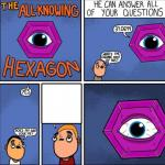all knowing hexagon meme