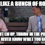 forrest gump box of chocolates | LIFE IS LIKE A BUNCH OF ROACHES CUT EM UP, THROW IN THE PIPE AND YOU NEVER KNOW WHAT YOU GONNA GET | image tagged in forrest gump box of chocolates | made w/ Imgflip meme maker