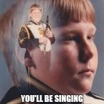 PTSD Clarinet Boy Meme | I WILL SHOVE THIS CLARINET SO FAR UP YOUR ASS YOU'LL BE SINGING YANKEE DOODLE DANDY WHETHER YOU LIKE IT OR NOT | image tagged in memes,ptsd clarinet boy | made w/ Imgflip meme maker