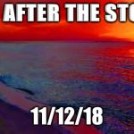 Ocean Sunset | DAY AFTER THE STORM 11/12/18 | image tagged in ocean sunset | made w/ Imgflip meme maker
