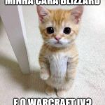 Cute Cat Meme | MINHA CARA BLIZZARD E O WARCRAFT IV? | image tagged in memes,cute cat | made w/ Imgflip meme maker
