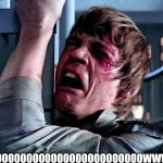 When you walk outside and there is white stuff falling from the sky | SNOOOOOOOOOOOOOOOOOOOOOOOOOWWWW | image tagged in luke skywalker crying | made w/ Imgflip meme maker