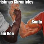 Predator Handshake | Christmas Chronicles Captain Ron Santa | image tagged in predator handshake | made w/ Imgflip meme maker