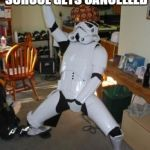 Star Wars Fan | WHEN YOUR SCHOOL GETS CANCELLED | image tagged in star wars fan,scumbag | made w/ Imgflip meme maker