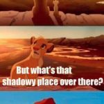 Simba Shadowy Place Meme | AH, WELCOME TO THE WORLD OF MEMES THE POLITICAL STREAM. NEVER GO THERE. | image tagged in memes,simba shadowy place | made w/ Imgflip meme maker