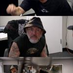 American Chopper Argument Indiana Jones Style Template meme