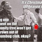 "Full of holiday, make that Christmas spirit, Ishii-San tries to get Kong to make some space in his ""Modern"" heart for joy. 