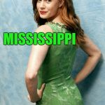 Amy Adams joke template  | WHAT DO YOU CALL THE WIFE OF A HIPPIE? MISSISSIPPI | image tagged in amy adams joke template,amy adams,jbmemegeek,bad puns,mississippi | made w/ Imgflip meme maker