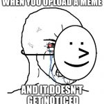 Pretending To Be Happy, Hiding Crying Behind A Mask Meme