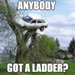 Secure Parking Meme | ANYBODY GOT A LADDER? | image tagged in memes,secure parking | made w/ Imgflip meme maker