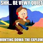 Elmer Fudd is Hunting for Dora The Explorer so he can kill her | SHH... BE VEWY QUIET I'M HUNTING DOWA THE EXPLOWAW. | image tagged in elmer fudd,hunting,dora the explorer | made w/ Imgflip meme maker