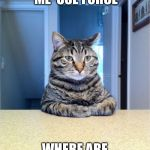 Take A Seat Cat Meme | DON'T MAKE ME  USE FORCE WHERE ARE THE KITTY TREATS? | image tagged in memes,take a seat cat | made w/ Imgflip meme maker