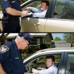 Pulled over meme