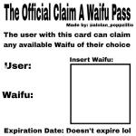 Official claim a waifu pass