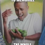 Why Can't I Hold All These Limes Meme | ME TRYING TO MEMORIZE THE WHOLE SYLLABUS ON EXAM NIGHT | image tagged in memes,why can't i hold all these limes | made w/ Imgflip meme maker