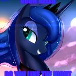 Teh Luna | OOOH HELLO DO YOU LIKE THE NIGHT | image tagged in hello luna,mlp meme | made w/ Imgflip meme maker