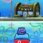 South Vs North Korea | image tagged in memes,krusty krab vs chum bucket blank,south korea,north korea | made w/ Imgflip meme maker