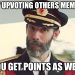 Captain Obvious | BY UPVOTING OTHERS MEMES YOU GET POINTS AS WELL | image tagged in captain obvious | made w/ Imgflip meme maker