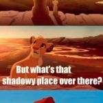 Simba Shadowy Place Meme | ALL YOU SEE BEFORE YOU IS YOUTUBE ADS *GASP* | image tagged in memes,simba shadowy place | made w/ Imgflip meme maker