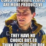 "I've decided that, ""working in an office is bad for my health"" 