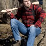 His true profession | BOY I SURE BROKE A SWEAT POSING FOR THAT OUTDOOR CATALOG | image tagged in memes,solemn lumberjack,outdoors,hard work | made w/ Imgflip meme maker