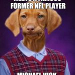 Yeah, I know it's dated, but I had to make it  | MEETS A FAMOUS FORMER NFL PLAYER MICHAEL VICK | image tagged in bad luck raydog,memes,bad luck brian | made w/ Imgflip meme maker