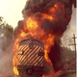 Train Fire | EVEN IF YOU ARE ON THE RIGHT TRACK YOU WILL GET RUN OVER | image tagged in train fire | made w/ Imgflip meme maker