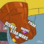 Arthur fist 2.0 | DISNEY PIXAR MARVEL STAR WARS FOX | image tagged in arthur fist 20 | made w/ Imgflip meme maker