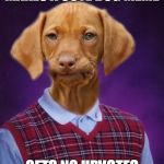 Bad Luck Raydog | MAKES A CUTE DOG MEME GETS NO UPVOTES | image tagged in bad luck raydog | made w/ Imgflip meme maker