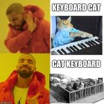 cat keyboard.yes that existlamoooooooooooooooooooooooooooooooooooooooooooooooooooooooooooooooooooooooooooooooooooooooooooooooo | KEYBOARD CAT CAT KEYBOARD | image tagged in drake blank,memes,cats,funny,dank memes,yeet | made w/ Imgflip meme maker