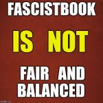 Blank Red Background | FASCISTBOOK FAIR   AND   BALANCED IS   NOT | image tagged in fascustbook,fair and balanced | made w/ Imgflip meme maker