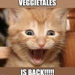 I may be way too old to celebrate, but I'm also too excited to care! | VEGGIETALES IS BACK!!!!! | image tagged in memes,excited cat,veggietales,reboot | made w/ Imgflip meme maker