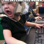 "angry little girl gamer | PLAYING A ONLINE GAME AND THE INTERNET IS DOWN ""MOM TURN THE WIFI ON"" 