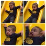 Kid falling down slide meme