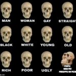 man woman gay straight skull | PEOPLE WHO PUT PINEAPPLE ON PIZZA | image tagged in man woman gay straight skull | made w/ Imgflip meme maker