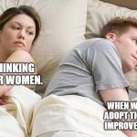 Yeah. He's an EHS Manager. | HE'S THINKING OF OTHER WOMEN. WHEN WILL MY STATE ADOPT THE GENERATOR IMPROVEMENTS RULE? | image tagged in i bet he's thinking about other women | made w/ Imgflip meme maker