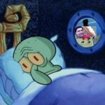 Squidward Can't Sleep | image tagged in squidward can't sleep | made w/ Imgflip meme maker