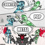 Sword fight | COUNTRY METAL POP | image tagged in sword fight,pop,country,metal,music,sword fight argument | made w/ Imgflip meme maker