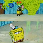 Ghost not scaring Spongebob meme