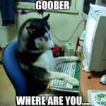I Have No Idea What I Am Doing Meme | GOOBER WHERE ARE YOU.... | image tagged in memes,i have no idea what i am doing | made w/ Imgflip meme maker