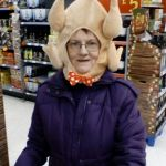 Crazy Lady Turkey Head | GETTIN' DRUNK ON THANKSGIVING | image tagged in crazy lady turkey head | made w/ Imgflip meme maker