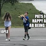 Patriots Fans | PATS FANS HAPPY ABOUT AB BEING SIGNED NORMAL PEOPLE | image tagged in trumpet boy object labeling,nfl,new england patriots | made w/ Imgflip meme maker