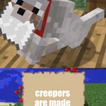 LeTtEr mAde oUt oF lETtEr | creepers are made out of creeper | image tagged in floor made out of floor,minecraft,creeper | made w/ Imgflip meme maker