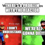 Mario Bros Views Blank Template Imgflip