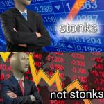 Stonks not stonks meme