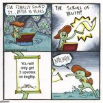 The Scroll Of Truth Meme | You will only get 3 upvotes on imgflip. | image tagged in memes,the scroll of truth | made w/ Imgflip meme maker