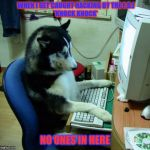 I Have No Idea What I Am Doing Meme | WHEN I GET CAUGHT HACKING BY THE F.B.I 'KNOCK KNOCK' NO ONES IN HERE | image tagged in memes,i have no idea what i am doing | made w/ Imgflip meme maker