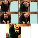 Gru's plan 5 panel meme